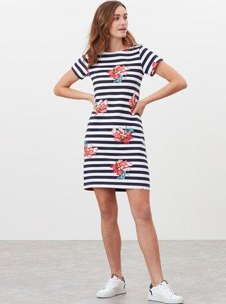 Bílo-modré dámské pruhované šaty Tom Joule