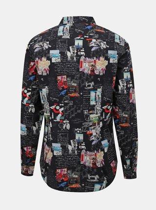 Černá pánská vzorovaná košile Desigual