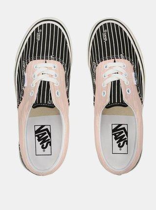 Černo-růžové dámské pruhované tenisky VANS Era