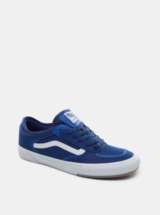 Tmavě modré pánské kožené tenisky VANS  Rowley Classic