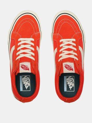 Oranžové semišové tenisky VANS Sk8-Low