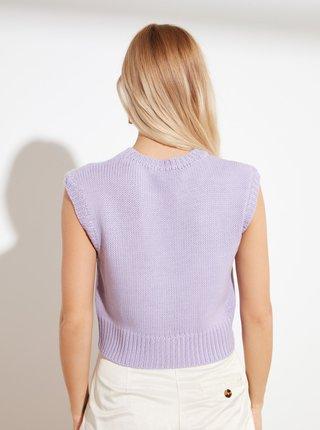 Fialový svetrový top Trendyol