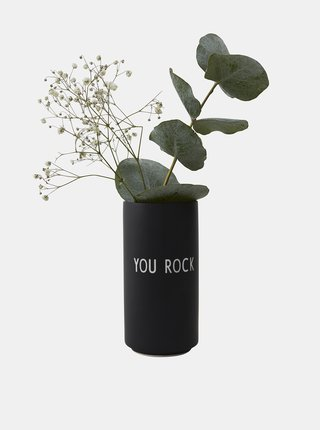 Černá váza Design Letters