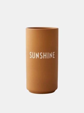 Oranžová váza Design Letters