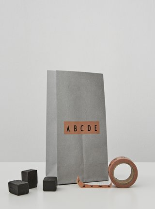 Sada dvoch lepiacich pások Design Letters