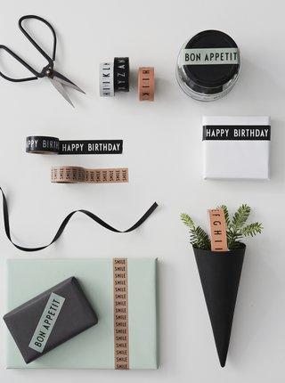 Sada dvou lepicích pásek Design Letters