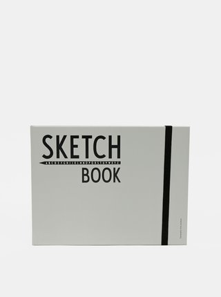 Čierny zápisník Design Letters Sketch Book