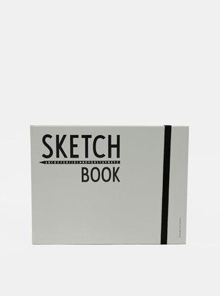 Šedý zápisník Design Letters Sketch Book