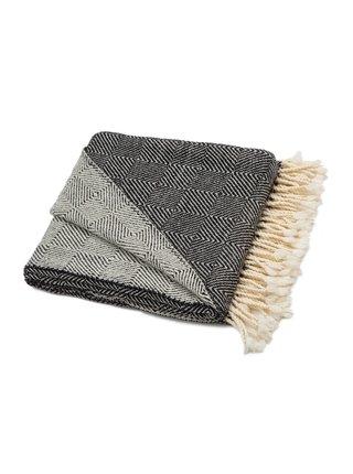 Vlněná deka Kostadina merino - černá