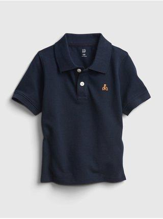 Detské tričko pique polo Modrá