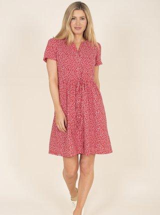Červené květované košilové šaty Brakeburn