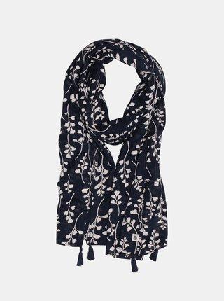 Tmavě modrý květovaný šátek Brakeburn