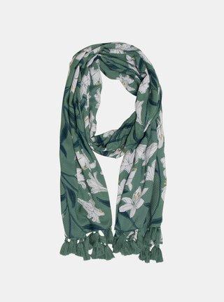 Zelený květovaný šátek Brakeburn
