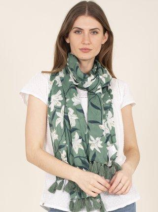 Zelená kvetovaná šatka Brakeburn