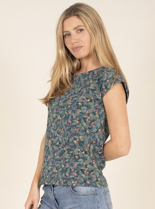 Modré květované tričko Brakeburn
