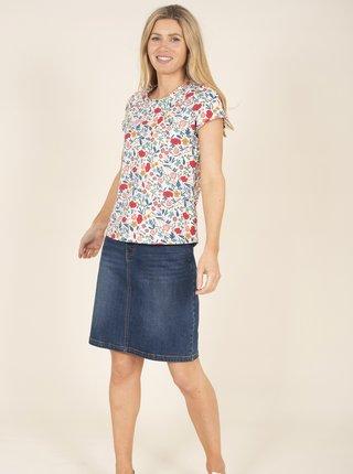Modro-bílé květované tričko Brakeburn