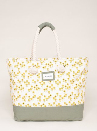 Žlto-biela vzorovaná plážová taška Brakeburn
