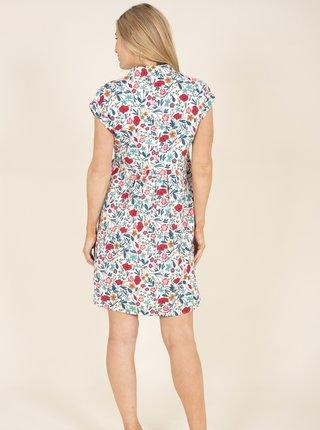 Modro-bílé květované šaty s kapsami Brakeburn