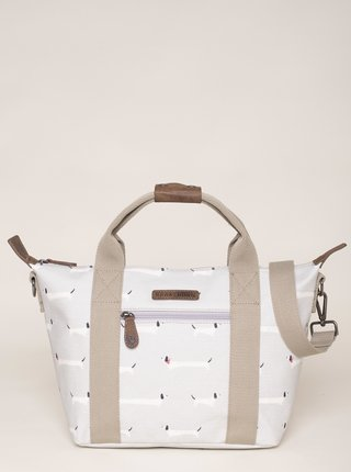 Biela vzorovaná taška Brakeburn