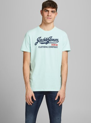 Světle modré tričko s potiskem Jack & Jones