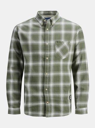 Zelená kockovaná košeľa Jack & Jones Layton