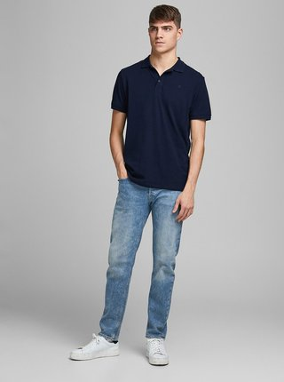 Tmavě modré polo tričko Jack & Jones