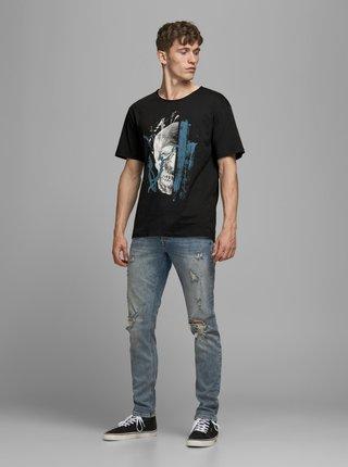 Čierne tričko s potlačou Jack & Jones