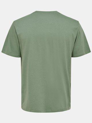 Zelené tričko s potlačou ONLY & SONS Anthony
