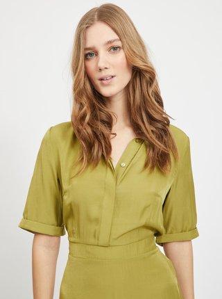 Kaki košeľové šaty VILA