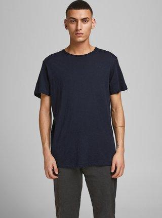 Tmavomodré basic tričko Jack & Jones Vance