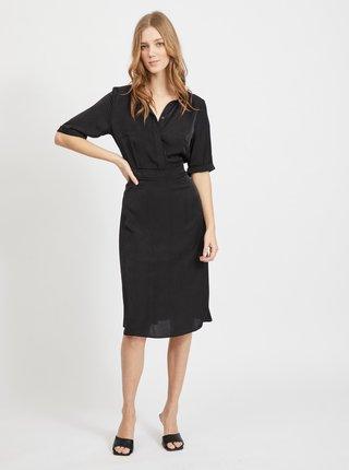 Černé košilové šaty VILA