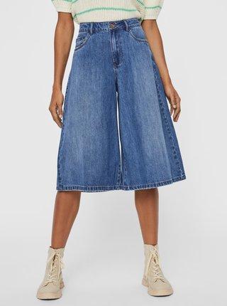 Modré rifľové culottes VERO MODA Clemma