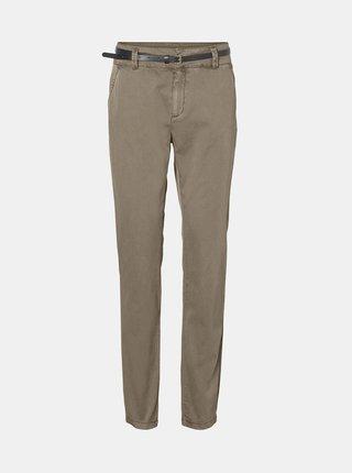 Béžové kalhoty s páskem VERO MODA Flash