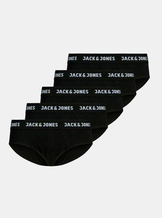 Sada pěti černých slipů Jack & Jones