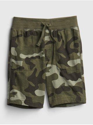 Detské kraťasy print pull-on shorts Zelená