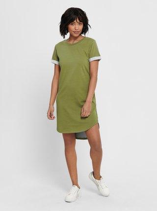 Zelené mikinové šaty Jacqueline de Yong-Ivy