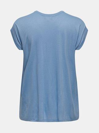Světle modrý top s krajkovými detaily ONLY CARMAKOMA Flake