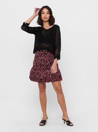 Černý krátký svetr Jacqueline de Yong