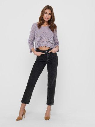 Fialový krátky sveter Jacqueline de Yong