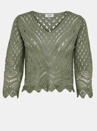 Zelený krátký svetr Jacqueline de Yong