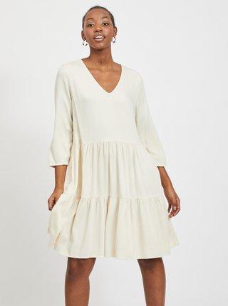 Krémové šaty VILA