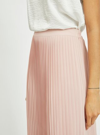 Světle růžová plisovaná sukně VILA