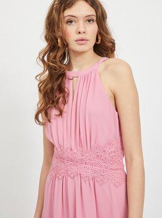 Ružové spoločenské šaty VILA