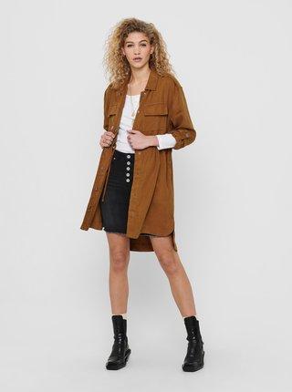 Hnědý lehký kabát ONLY Kenya