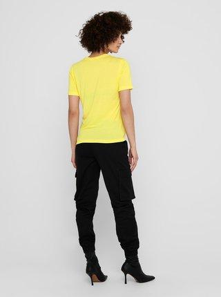 Žluté tričko s ozdobnými detaily Jacqueline de Yong London