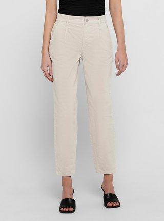 Krémové zkrácené kalhoty ONLY Alisa