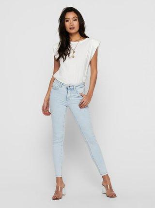 Světle modré skinny fit džíny ONLY