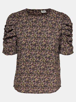 Černo-fialová květovaná halenka Jacqueline de Yong Mia