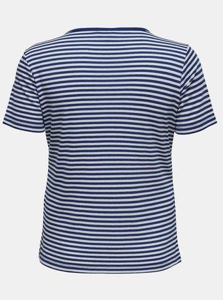 Modré pruhované tričko ONLY CARMAKOMA Tine