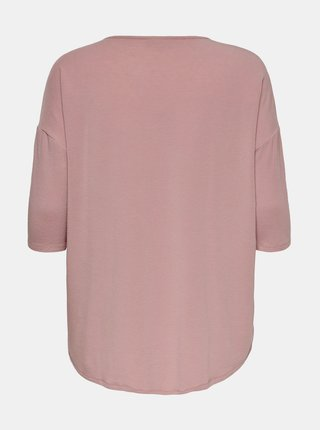 Růžové tričko ONLY CARMAKOMA Lamour